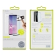 muvit pack Samsung Galaxy S10 funda Cristal Soft transparente + protector pantalla vidrio templado curvo case friendly