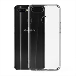 muvit pack Oppo AX7 funda Cristal Soft transparente + protector de pantalla vidrio templado plano marco negro
