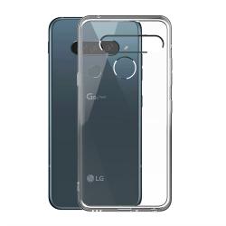 muvit pack Lg G8s ThinQ funda Cristal Soft transparente + protector de pantalla vidrio templado plano