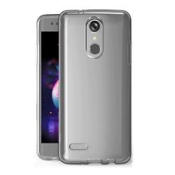 muvit pack Lg k30 funda Cristal Soft transparente + protector de pantalla vidrio templado plano