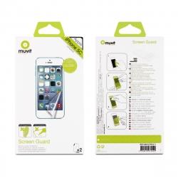 muvit protector pantalla flexible Apple iPhone 5C antihuellas (2 unid brillo)