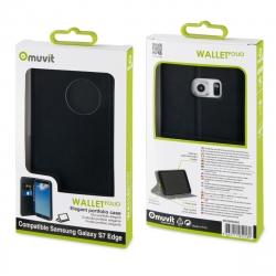 muvit funda Wallet Folio Samsung Galaxy S7 Edge función soporte negra