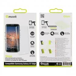muvit protector pantalla Samsung Galaxy S7 Edge vidrio templado curvo