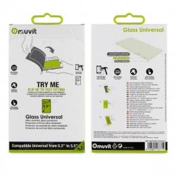 "muvit protector pantalla vidrio templado universal 5.5"" plano"