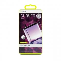 muvit protector pantalla Samsung Galaxy S8 vidrio templado curvo case friendly marco negro