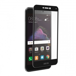 muvit protector pantalla Huawei P8 Lite 2017 vidrio templado plano marco negro