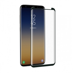 muvit protector pantalla Samsung Galaxy S9 vidrio templado curvo case friendly marco negro