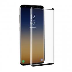muvit protector pantalla Samsung Galaxy S9 Plus vidrio templado curvo case friendly marco negro