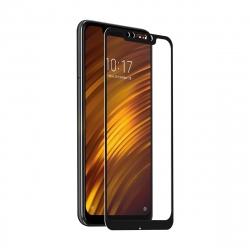 muvit protector pantalla Xiaomi Pocophone F1 vidrio templado plano marco negro