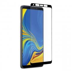 muvit protector pantalla Samsung Galaxy A9 2018 vidrio templado plano con marco negro