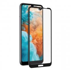 muvit protector pantalla Huawei Y6 2019 vidrio templado plano con marco negro