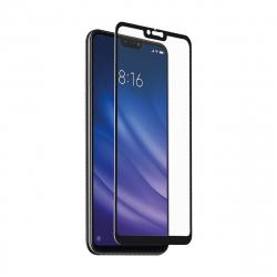 muvit protector pantalla Xiaomi MI 8 Lite vidrio templado plano marco negro