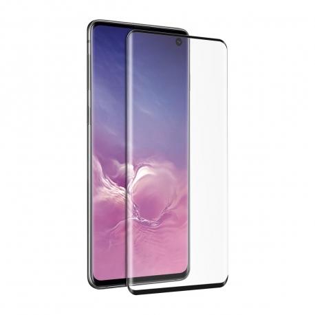 muvit protector pantalla Samsung Galaxy S10 vidrio templado curvo case friendly marco negro