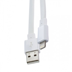 muvit cable USB-Lightning MFI 2.4A 1.2m cable plano blanco