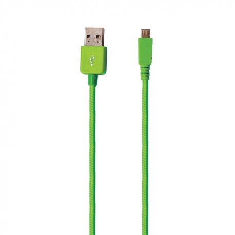 muvit cable USB-MicroUSB 2.1A 1.2m verde