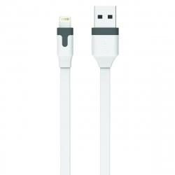muvit cable USB-Lightning MFI 2.4A 1m blanco