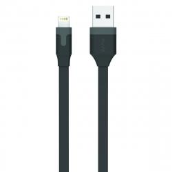 muvit cable USB-Lightning MFI 2.4A 1m negro