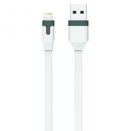 muvit cable USB-Lightning MFI 2.4A 2m blanco