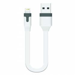 muvit cable USB-Lightning MFI 2.4A 0.2m blanco