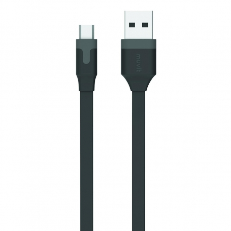 muvit cable USB-Micro USB 2.4A 0.2m negro