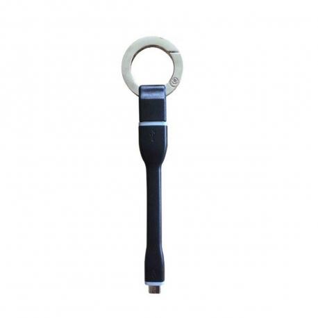 muvit cable USB-Micro USB 2.4A 0.1m tipo llavero negro