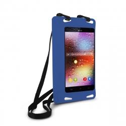 "muvit funda acuática Trendy universal IPx8 bolsillo interior hasta 5.5"" azul"