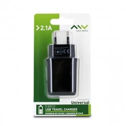 Myway transformador USB 2.1A negro