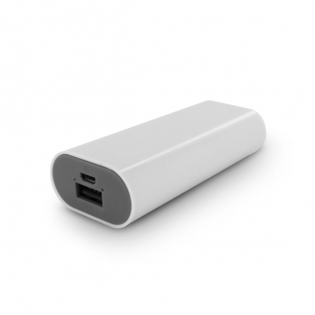Myway power bank 5000 mAh USB 1A cable USB-Micro USB blanco