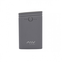 Myway power bank 7500 mAh USB 2 puertos 1A + 2.1A cable USB-Micro USB gris