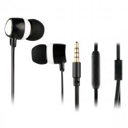 Myway auriculares estéreo 3.5mm con micrófono blanco/negro