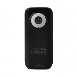 Puro power bank 4000 mAh 2 puertos 2.4A cable USB-Micro USB fast charge negra