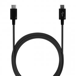 Puro cable Tipo C-Micro USB 3A 1m negro