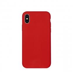 Puro funda silicona con microfibra Apple iPhone XS Max icon roja