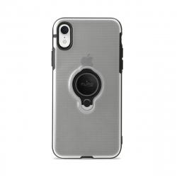 Puro carcasa anillo Apple iPhone XR + función soporte magnético transparente