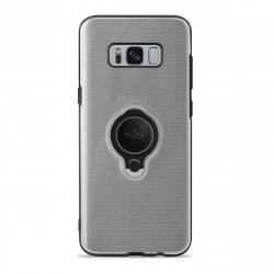 Puro carcasa anillo Samsung Galaxy S8 Plus + función soporte magnético transparente