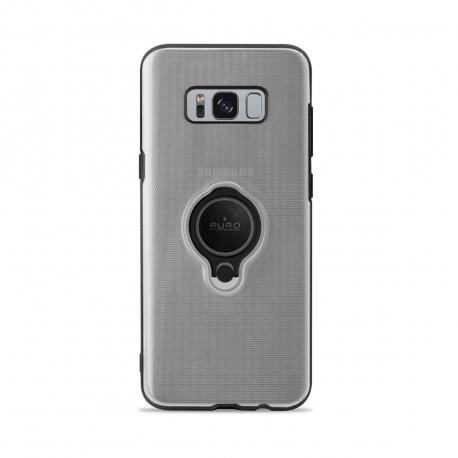 Puro carcasa anillo Samsung Galaxy S8 + función soporte magnético transparente