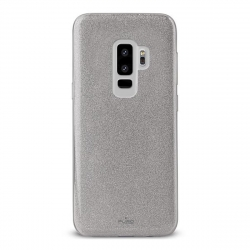 Puro funda Shine Samsung Galaxy S9 Plus plata