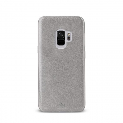 Puro funda Shine Samsung Galaxy S9 plata