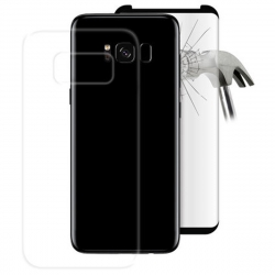 Puro pack funda tpu 0,3 nude + protector tempered Samsung S 8 negro