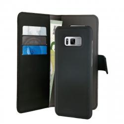 Puro funda folio Samsung Galaxy S8 Plus + carcasa extraíble negra
