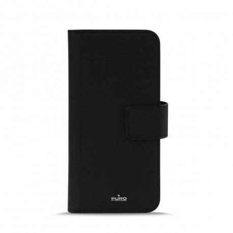Puro funda folio Apple iPhone XS/X + carcasa extraíble negra