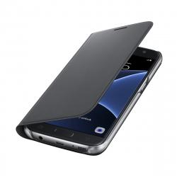 Samsung funda Flip Wallet Samsung Galaxy S7 con ranura para tarjetas negra
