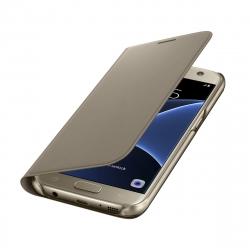 Samsung funda Flip Wallet Samsung Galaxy S7 con ranura para tarjetas oro
