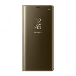 Samsung funda Clear View Samsung Galaxy Note 8 función soporte oro