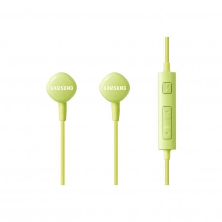 Samsung auricular estéreo 3,5 mm con micrófono + control volumen verde