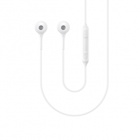 Samsung auricular estéreo 3,5 mm con micrófono + control volumen blanco