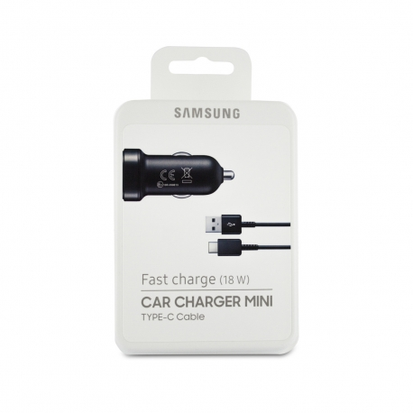 Samsung pack cargador coche USB 2A negro + Cable USB-Tipo C 1,5m negro