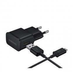 Samsung pack transformador USB 2A negro + Cable USB-Micro USB 1m negro