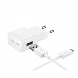 Samsung pack transformador USB 2A blanco + Cable USB-Micro USB 1m blanco