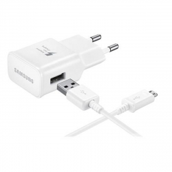 Samsung pack transformador USB 2A blanco + Cable USB-Micro USB 1m blanco
